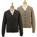MOFFAT (Moffat) men's V neck long sleeve Cardigan, MENS CARDIGAN VOE TRUE SHETLAND MO133213/3 V GREY/FAWN also fire shabelet boobs and
