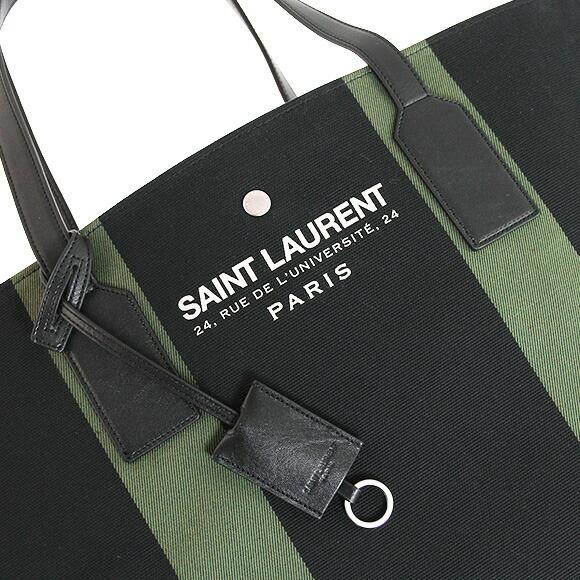 yves saint laurent beach logo-printed canvas pouch