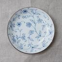 美浓烧轻瓷行阿拉伯式花纹 3.5 大小 12 厘米花圆碟盘小碟酱