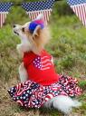 Patriotic Doggie Dress dress celebrity favorite dog clothes pet medium-sized dog celebrity dog