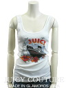 JUICY COUTURE ★ Couture cut & sew US size - M sleeveless black / white printed tank CAMI women's tops #juc11874-ss-M