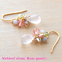 Drop pierced earrings of the natural stone