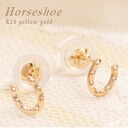 K10 18kt yellow gold, good luck Horseshoe motif earrings 05P13Dec14