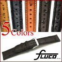 FLUCO Echt Strauss Leather Watch Strap