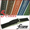 FLUCO Amerika Leather Watch Strap
