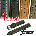 FLUCO Chrono Nabucco Leather Watch Strap