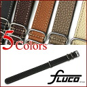 FLUCO Schrumpf NATO Leather Watch Strap