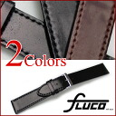 FLUCO Horween Shell Cordovan Flat Leather Watch Strap