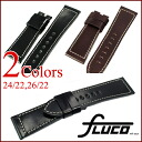 FLUCO Horween Shell Cordovan Leather Watch Strap for Officine Panerai 24/22, 26/22