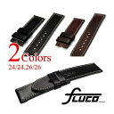 FLUCO Horween Shell Cordovan Leather Watch Strap for Officine Panerai 24/24, 26/26