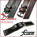 With buckle... ◆ フルーコ FLUCO ◆ Horween Shell Cordovan 24 / 22 26 / 22 Horween shell cordovan for in wrist watch, belt watch, watch band Officine Panerai Panerai for 24 mm26mm