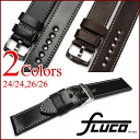 With buckle... ◆ フルーコ FLUCO ◆ Horween Shell Cordovan 24 / 24-26 / 26 Horween shell cordovan for in wrist watch, belt watch, watch band Officine Panerai Panerai for 24 mm26mm
