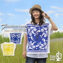 [THREE LAMPS WEAR...] three lamps clothing * flowers bandana ★ big t-shirt!
