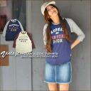 HIGH ★ slab T-cloth vintage seven minutes sleeve raglan sleeves T-shirt