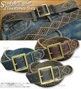 Studs & eyelet ★ rhinestone cowhide belt!