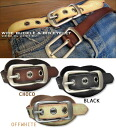 Wide buckle ☆ big eyelet belt