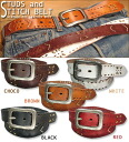 Studs & stitch ☆ punching cowhide belt