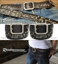 [] ランダムスタッズ ★ vintage leather belt