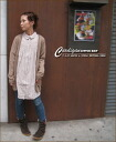 Cotton knit color 杢 V neck long cardigan