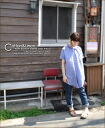 Cotton hemp chambray ★ puff sleeve one piece♪