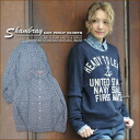 Cotton hemp chambray ★ dot print regular shirt♪