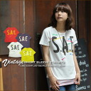 S.A.E ★ embroidery vintage T-shirt♪