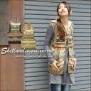 Jacquard pattern ★ Shetland knit vest.