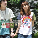 SALE Rainbow ★ soft tenjiku vintage T shirt.