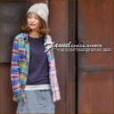 Degree sweet flannel check ★ regular shirt♪
