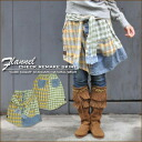 Degree sweet flannel check shirt ★ remake-like skirt♪