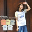 Just SALE [Kansai girls style s] school bus ★ tenjiku powder processing vintage T shirt.