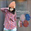[CUBE SUGAR: sugar cubes * INDIA Nell check ★ vintage processing regular shirt!