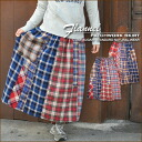 50% off [CUBE SUGAR: sugar cubes * yarn-dyed Nell check ★ patchwork skirt.