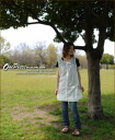 Cotton hemp ★ reshuffling tunic one piece♪