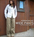 Herringbone ☆ wide pants