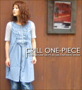Chambray ☆ frill one piece♪