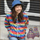 Tie-dyed transcription print ★ nylon mountain parka
