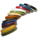 All 12 colors leather bracelet ♪ [candy] leather Bangle with chain