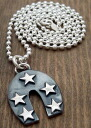 STAR ★ Horseshoe silver pendant ♪ [Silver Silver 925]