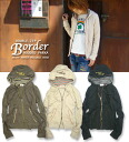 Cliff Meyer Double-zip BORDER hooded parka border ☆ W-zip Parker