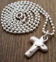 Bean cross pendant
