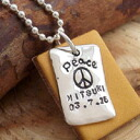ONLY ONE LEATHER and SILVER MESSAGE PENDANT leather & silver ★ message pendant