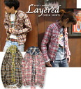 Cliff Meyer LYERED CHECK SHIRTS lei yard ☆ check shirt