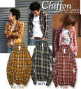 Cliff year Heritage Stone Chiffon Check Shirts chiffon ☆ check shirt