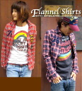 Emblem ☆ check flannel shirt