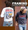 FRAMING ☆ W face T shirt