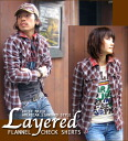Layered ★ check ☆ flannel shirt