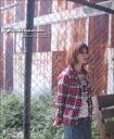 Emblem & roll-up ★ flannel ZIP shirt