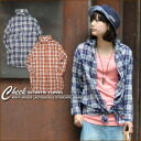 Wrinkle processing ★ checked pattern shirt tunic♪