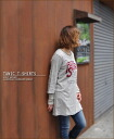 Hedgehog ★ tunic seven minutes sleeve T-shirt♪